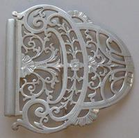 Sheffield 1899 Hallmarked Solid Silver Nurses Belt Buckle Joseph Rodgers & Sons (4 of 8)