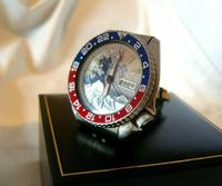 Vintage Wrist Watch 1987 Seiko Diver Mod Great Wave Of Kanagawa Pepsi Bezel Fwo (6 of 12)