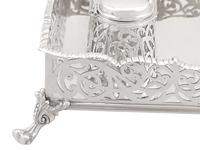 Sterling Silver Gallery Inkstand - Antique Victorian 1898 (6 of 9)