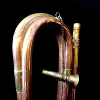 9th Lancers Antique Bugle, Copper & Brass c.1900 (4 of 6)