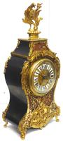 Rare Large Antique French Boulle Mantel Clock Ormolu Inlay 8 Day Mantle Clock (10 of 16)