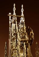 Scottish Interest Historically Interesting Sir Walter Scott Skeleton Clock. (10 of 14)