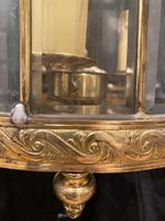 Pair of French Triple Light Circular Lanterns (8 of 11)