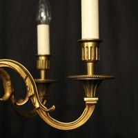 French Gilded Bronze 6 Light Chandelier (4 of 10)
