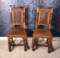 Pair of Victorian Oak Hall Chairs (4 of 17)