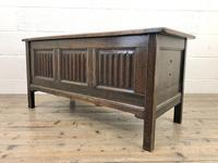 Early 20th Century Panelled Oak Coffer (6 of 8)