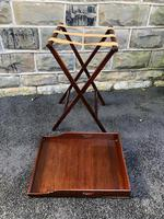 Antique Mahogany Butlers Tray on Stand (6 of 8)