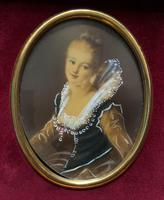 Lovely Original Vintage Miniature Portrait Oil Painting in 18th Century Manner (3 of 8)