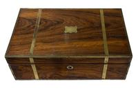 Early 19th Century Brass Bound Rosewood Writing Box (2 of 7)