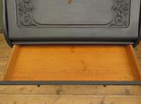 Antique Art Nouveau Black Writing Bureau Desk with Carvings, Lockable, Gothic (7 of 23)