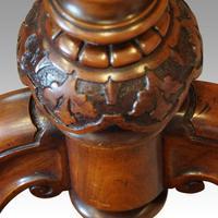 Victorian Serpentine Burr Walnut Card Table (4 of 12)