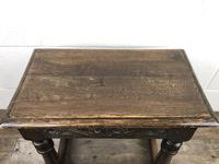 Antique Oak Joint Stool with Carved Detail (4 of 13)