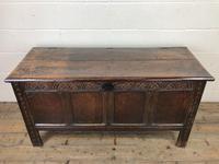 Antique Carved Oak Coffer (2 of 13)