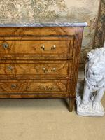 19th Century Burr Walnut Commode with Grey Marble Top (2 of 4)