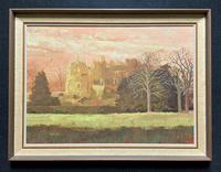 View of 'Berkeley Castle' Original Impressionist Oil Painting by Victor Haddrell
