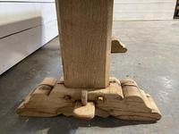French Farmhouse Bleached Oak Coffee Table (4 of 9)