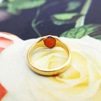 Antique 18ct Yellow Gold Sardonyx Pinky Shield Ring, Chester Hallmarks (6 of 6)