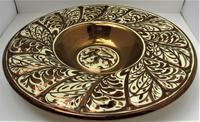 Gordon Forsyth, Copper Lustre Earthenware Shallow Footed Dish in Hispano Moresque Style c.1930 (3 of 8)