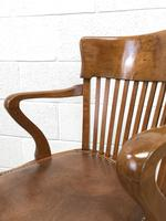 Early 20th Century Antique Swivel Desk Chair (8 of 10)