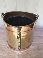 Late 19th Century Brass & Copper Bucket (2 of 9)