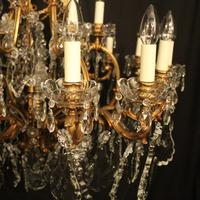 French 19th Century Bronze 24 Light Antique Chandelier (4 of 11)
