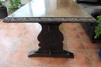 Country Oak Tefectory Table 7 foot long 1880 (4 of 10)