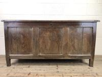 Antique 18th Century Oak Coffer with Three Panel Front