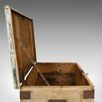 Antique Mail Chest, English, Pine, Carriage, Merchant, Victorian c.1880 (6 of 12)