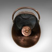 Antique Helmet Coal Scuttle, English, Copper, Fireside Bucket, Victorian, 1870 (6 of 11)