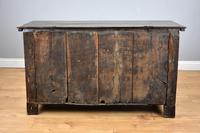 17th Century Oak Carved Coffer with Drawer (13 of 14)