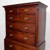Georgian Chest on Chest of Drawers Inlaid Mahogany (6 of 12)