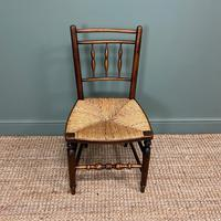 Set of Six Georgian Elm Country House Antique Dining Chairs (8 of 11)