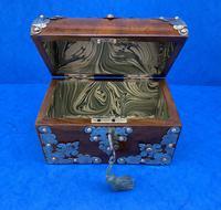 Victorian Brassbound Walnut Box c.1850 (10 of 10)