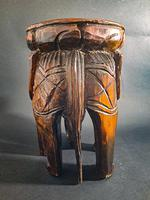 Carved Elephant Side Table (3 of 6)