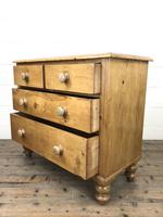 Antique Pine Straight Front Chest of Drawers (8 of 10)