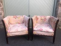 Pair of Antique English Upholstered Chairs (2 of 12)
