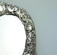 William Comyns : A Fine Large Quality Antique Solid Silver Novelty Mirror C.1905 (6 of 11)