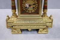 French Egyptian Revival Bronze Gilt Mantel Clock by Achille Brocot (4 of 12)