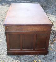 1960s Mahogany Pedestal Desk Brown Leather (3 of 5)