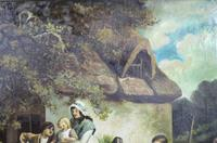 Pair of Early 19th Century Country Genre Scenes Oil on Canvas (15 of 21)
