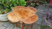 Exceptional 19th Century Marquetry Drop-leaf Centre Table (7 of 9)