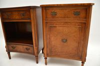 Pair of Georgian Style Burr Walnut Bedside Cabinets c.1930 (4 of 11)