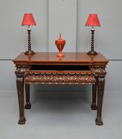 George II Style Mahogany Maple & Co Console Hall Table (3 of 15)