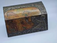 Antique Russian Wood Box with Basma Abramtsevo - Very Large (12 of 13)