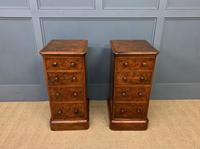 Victorian Pair of Burr Walnut Bedside Chests (7 of 14)