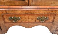Antique Walnut Cabinet Bookcase Queen Anne Domed (4 of 11)