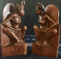 Pair of Large Hand Carved  Indonesian Bookends (2 of 12)