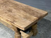 Rustic French Oak Farmhouse Kitchen Dining Table (5 of 16)