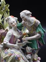 Complex Late 19th Century Meissen Group of Lovers (5 of 5)