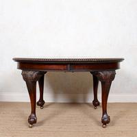 Oak Dining Table & 6 Chairs Telescopic 19th Century (18 of 19)